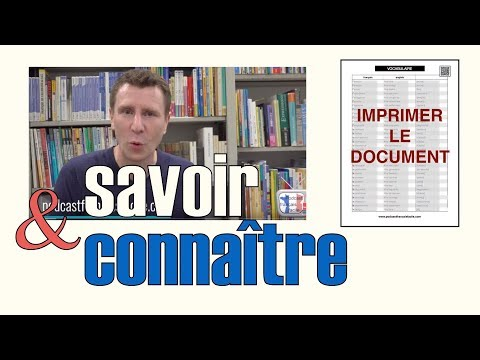 savoir connaître FLE how to say to know in french