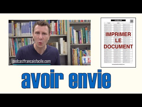 verbe avoir envie de explication francais facile