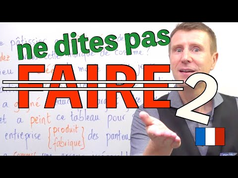 【Delf B2】FAIRE partie 2 synonymes exercice