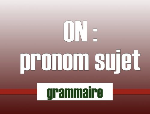 On pronom personnel ou indéfini